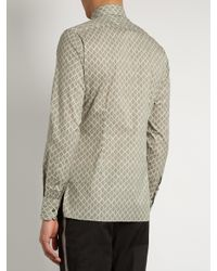 Lanvin - Multicolor Tile-print Cotton Shirt for Men - Lyst