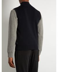Moncler - Blue Maglia Tricot Contrast-panel Down Gilet for Men - Lyst