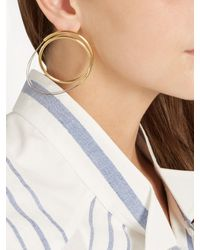 Loewe | Metallic Twisted Hoop Earrings | Lyst