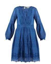 Sea | Blue Gibson Broderie-anglaise Cotton Dress | Lyst