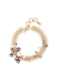 Lanvin | Metallic Faux-pearl Chain Necklace | Lyst