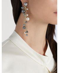 Lanvin - Metallic Faux-pearl Drop Earrings - Lyst