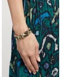 Lanvin - Multicolor Chain Lumiere Crystal-embellished Bracelet - Lyst