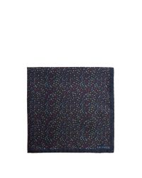 Lanvin | Blue Abstract-print Silk Pocket Square for Men | Lyst