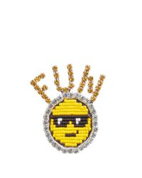 Shourouk | Multicolor Emojibling Fun Smiley Face Brooch | Lyst