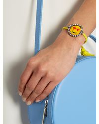 Shourouk | Yellow Emojibling Love Smiley Face Bracelet | Lyst