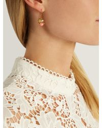 Aurelie Bidermann - Metallic Lily Of The Valley Sea Bamboo Drop Earrings - Lyst