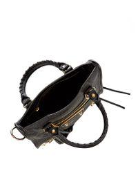 Balenciaga - Black Classic Metallic Edge City Mini Leather Bag - Lyst
