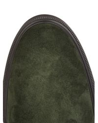 Tod's - Green Desert Suede Ankle Boots for Men - Lyst