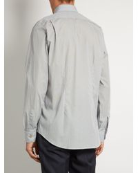 Paul Smith - Gray Single-cuff Pin-dot Print Cotton Shirt for Men - Lyst