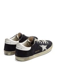 Golden Goose Deluxe Brand Blue Super Star Low-top Suede Trainers for men