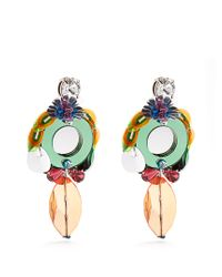 Miu Miu - Multicolor Flower-drop Clip-on Earrings - Lyst