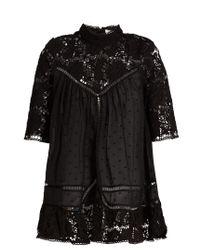 Zimmermann | Black Caravan Embroidered Cotton Top | Lyst