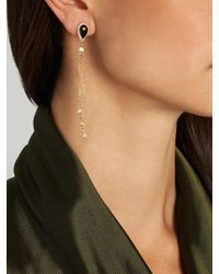 Jacquie Aiche - Multicolor Diamond, Onyx & Yellow-gold Earrings - Lyst