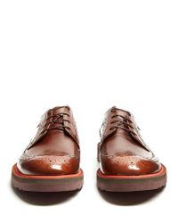 Paul Smith - Brown Grand Raised-sole Leather Brogues for Men - Lyst