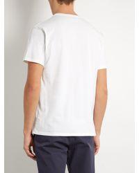 Maison Kitsuné - White 'parisien' Print T-shirt for Men - Lyst