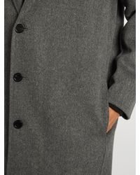 Acne Studios Gray Charles Wool And Cashmere-blend Coat for men