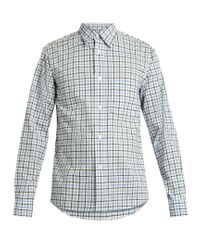 Acne | Blue Oak Check Cotton Shirt for Men | Lyst