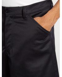 Acne Blue Allan Wide-leg Cotton-blend Shorts for men
