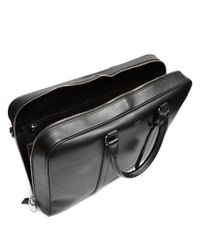 Tod's - Black Logo-print Leather Briefcase for Men - Lyst