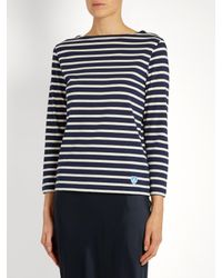Orcival - Blue Breton-striped Cotton Top - Lyst