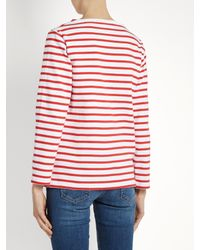 Orcival - Red Breton-striped Cotton Top - Lyst