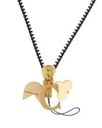 Chaos - Metallic C Gold-plated Charm - Lyst