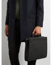 Fendi - Black Peekaboo Grained-leather Briefcase for Men - Lyst