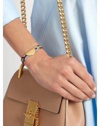 Lucy Folk | Multicolor Taco Gold-plated Friendship Bracelet | Lyst