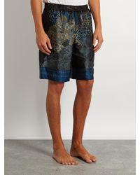 Meng - Multicolor Floral And Bird-print Silk-satin Pyjama Shorts for Men - Lyst