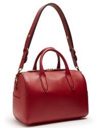 Anya Hindmarch - Red Flip Barrel Vere Leather Bag - Lyst