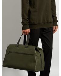 Bottega Veneta - Multicolor Intrecciato-panelled Leather Weekend Bag for Men - Lyst