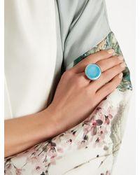 Etro | Blue Ceramic-disc Signet Ring | Lyst