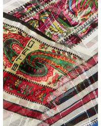 Etro | Red Paisley-print Striped Silk Scarf | Lyst