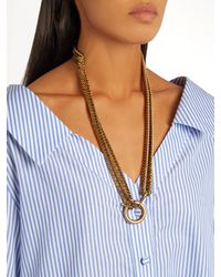 Balenciaga - Metallic Layered-chain Necklace - Lyst