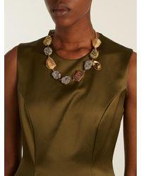 Christopher Kane - Multicolor Natural-stone Embellished Necklace - Lyst