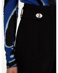Proenza Schouler - Black High-rise Twist-lock Cady Shorts - Lyst