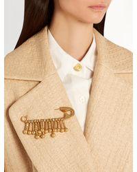Sonia Rykiel | Metallic Beaded-fringe Safety-pin Brooch | Lyst