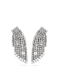 Saint Laurent | Metallic Smoking Crystal-embellished Clip-on Earrings | Lyst