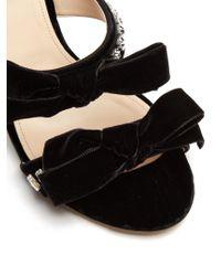Attico - Black Diletta Crystal-embellished Velvet Sandal - Lyst