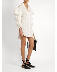 Jacquemus - White Puff-sleeve Cotton Mini Shirtdress - Lyst