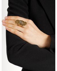 Alexander McQueen | Metallic Engraved Ring | Lyst