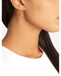 Ileana Makri - Metallic Diamond & Yellow-gold Earrings - Lyst