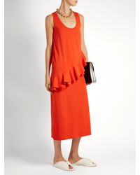 MSGM - Orange Abelle Dress - Lyst