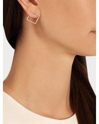 Azlee - Metallic White Light Diamond & Yellow-gold Earrings - Lyst