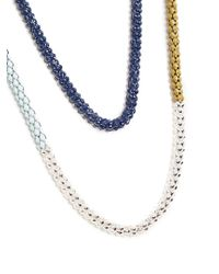 Lucy Folk - Blue Naturalist Silver And Steel Necklace - Lyst