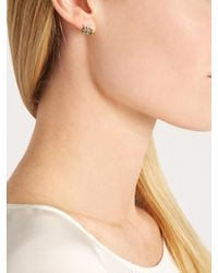 Jacquie Aiche | Green Diamond, Tourmaline & Yellow-gold Earring | Lyst
