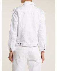 FRAME - White Rigid Re-release Denim Jacket - Lyst
