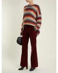 Chloé - Multicolor Oversized Striped Mohair-blend Knit Sweater - Lyst