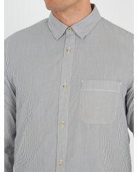 A.P.C. - Gray Jac Striped Cotton Shirt for Men - Lyst